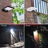 ソーラー街路灯pirモーションセンサーランプ450lm 36 ledソーラーウォールライト屋外防水セキュリティランプ用ガーデン経路ランプ