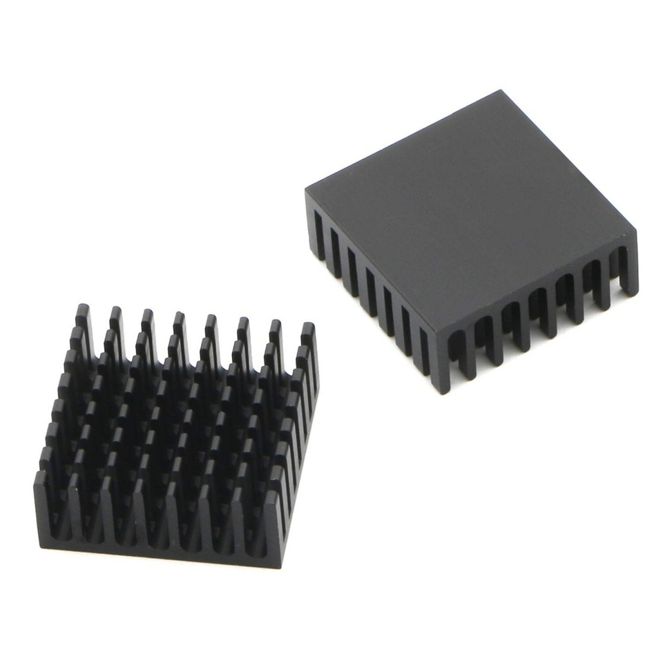 10Pcs Gdstime 25x25x10mm 25mm 10mm Black Aluminum Cooler Radiator Heat Sink  Heatsink for Stepper Drive MOSFET VRM Vram IC Chips|Fans & Cooling| -  AliExpress