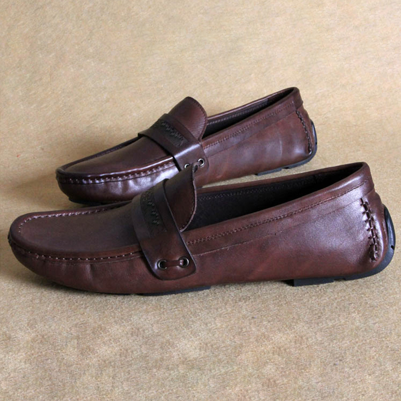 Da Moda Sapatos Masculinos Couro Tendência Homens Respirável Peas Casual Conjuntos De Dos Pés Condução Verão 7UxxPX