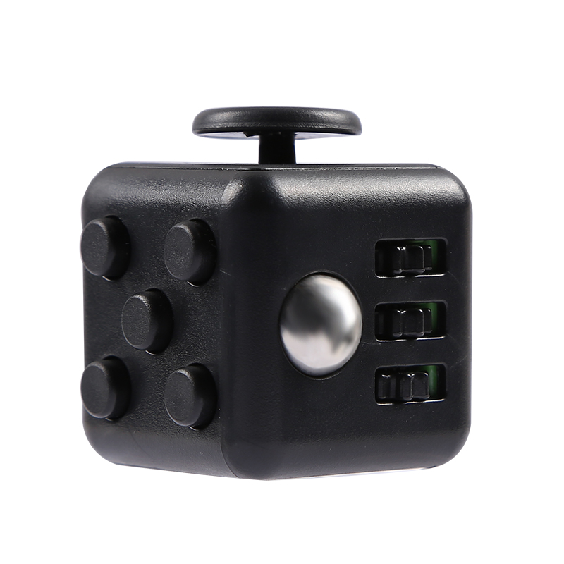 Fidget magic cube toy high quality with box 2017 New fidget magic cube anti irritability vinyl desk stress relief for girl boys