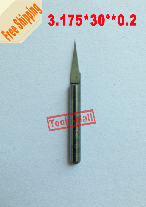 10 pcs 30 Degree 0.2mm Tip  3.175mm Carbide end Mill Milling cutter Engraving Tool Bit CNC Router Bit Tool PCB PVC Engraving Bit new arrival 5pcs a set 3 175mm carbide pcb engraving bits cnc router tool 90 degree 0 1mm milling cutter end mill hot sale