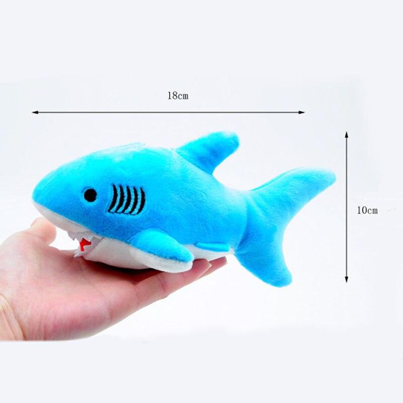 1pc 18CM Ocean Plush Stuffed Toy Doll Keychain Pendant Shark Plush Toys Dolls Shark Plush Toys Model I0126