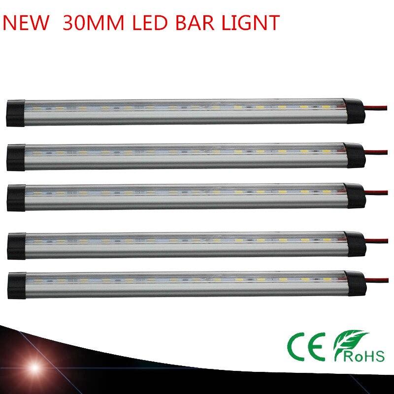 10X Новый SMD5630 12 В под кабинет свет Кухня свет светодиодный бар свет 30 мм светодиодный s Жесткий жесткая с алюминиевый корпус