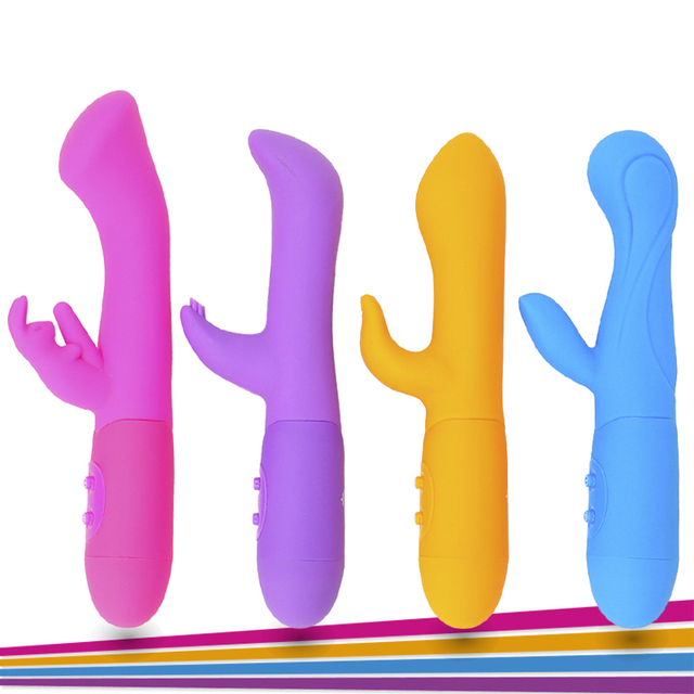 10 Speed Waterproof Double Rod Masturbation Rabbit Silicone Vibrator G Spot  Pussy Clitoris Massage Vibrators for Women