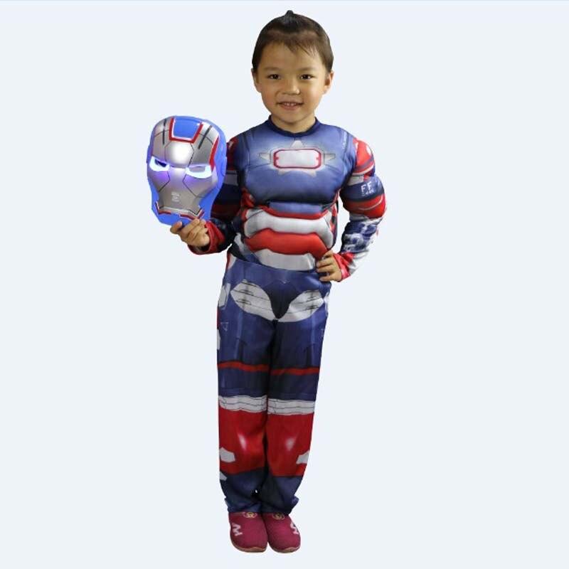 Nuovo 3 Colori Iron Man The Avengers Cosplay Costumi di Halloween per  Bambini Fantasia Disfraces Natale Masquerade Purim vestito in Nuovo 3  Colori Iron Man ... bf438299711