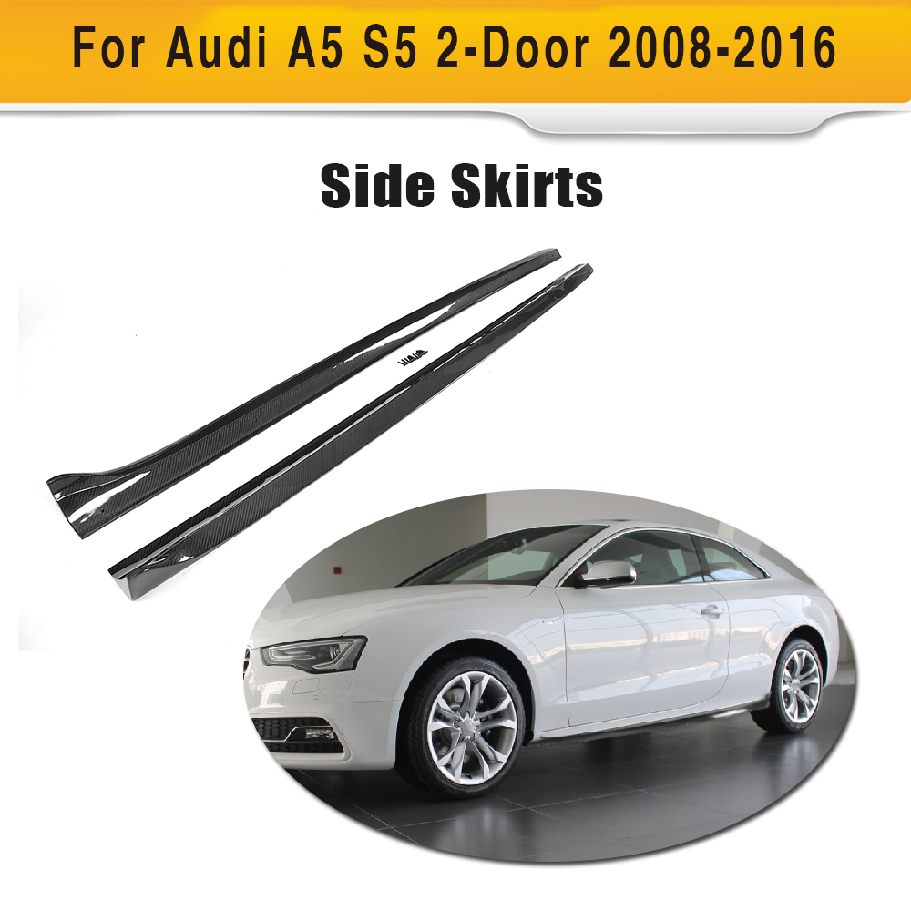 Carbon Fiber Car Side Skirts Bumper Aprons For Audi A S - 2 door audi