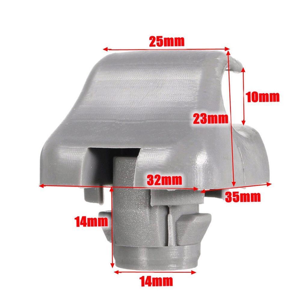 1× Sun Visor Clip Gray For Honda CR-V Civic Accord Odyssey Pilot 88217-S04-003ZA