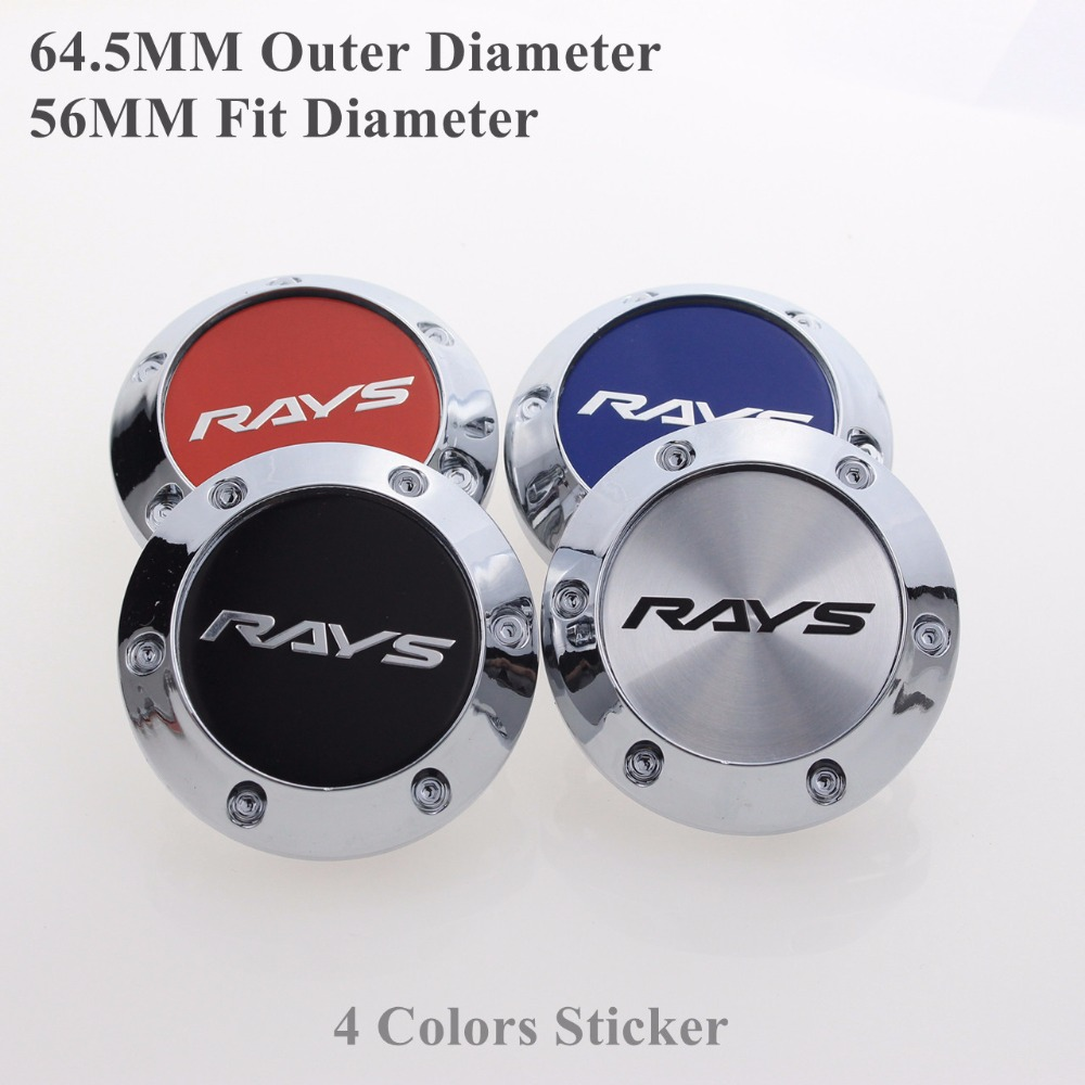 64.5MM Wheel Centre Caps For RAYS Rims Auto Emblem Sticker SET OF 4 KOM POWER KP64556458R
