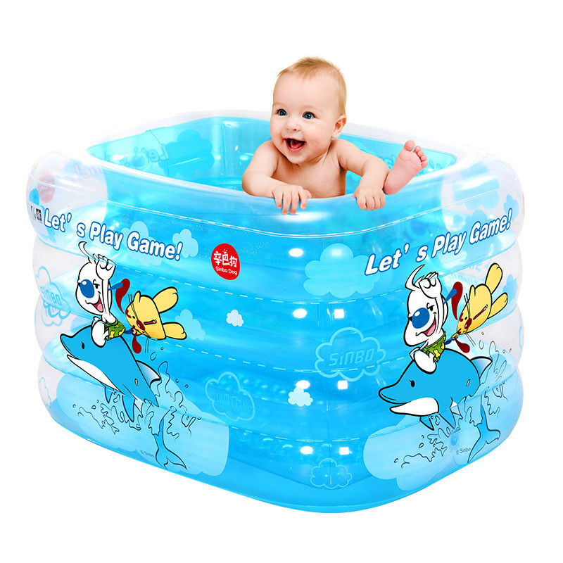 Baby Large Swimming Pool Inflatable SwimmingPpool Square Play Water Pool Children's Play Games Pool  at A Sale environmentally friendly pvc inflatable shell water floating row of a variety of swimming pearl shell swimming ring