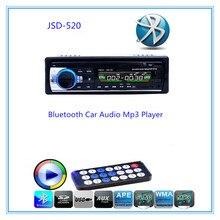 Llamadas manos libres Autoradio Radio de Coche Bluetooth de Audio Estéreo En El Tablero de FM Receptor de Disco USB de Tarjetas SD de Entrada Aux con Mando A Distancia
