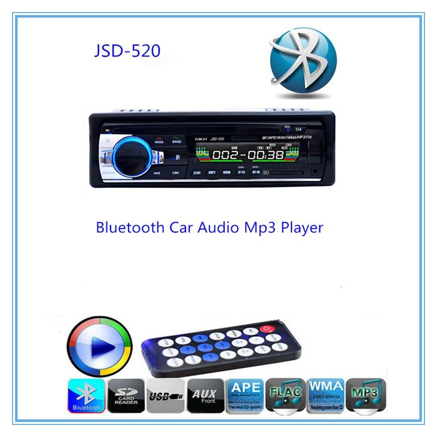 imágenes para Llamadas manos libres Autoradio Radio de Coche Bluetooth de Audio Estéreo En El Tablero de FM Receptor de Disco USB de Tarjetas SD de Entrada Aux con Mando A Distancia