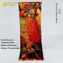 Yopota шелковые роскошные шарфы платок традиционное искусство сычуаньская опера маска сувенир высокого класса шарфы Высший сорт подарок