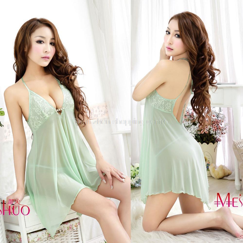 Sommernatkjole i høj kvalitet kvinders sexede natkjole stramme sexet natlig kort nederdel dame nattøj