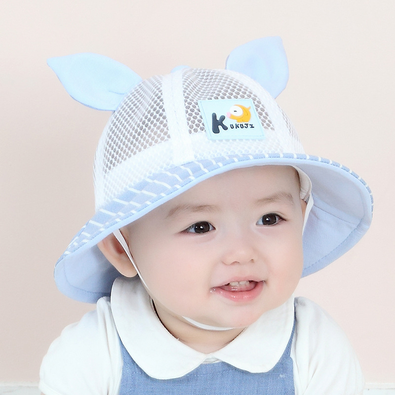1 3 Years Old Baby Hat With Rabbit Ears Summer Cap Mesh