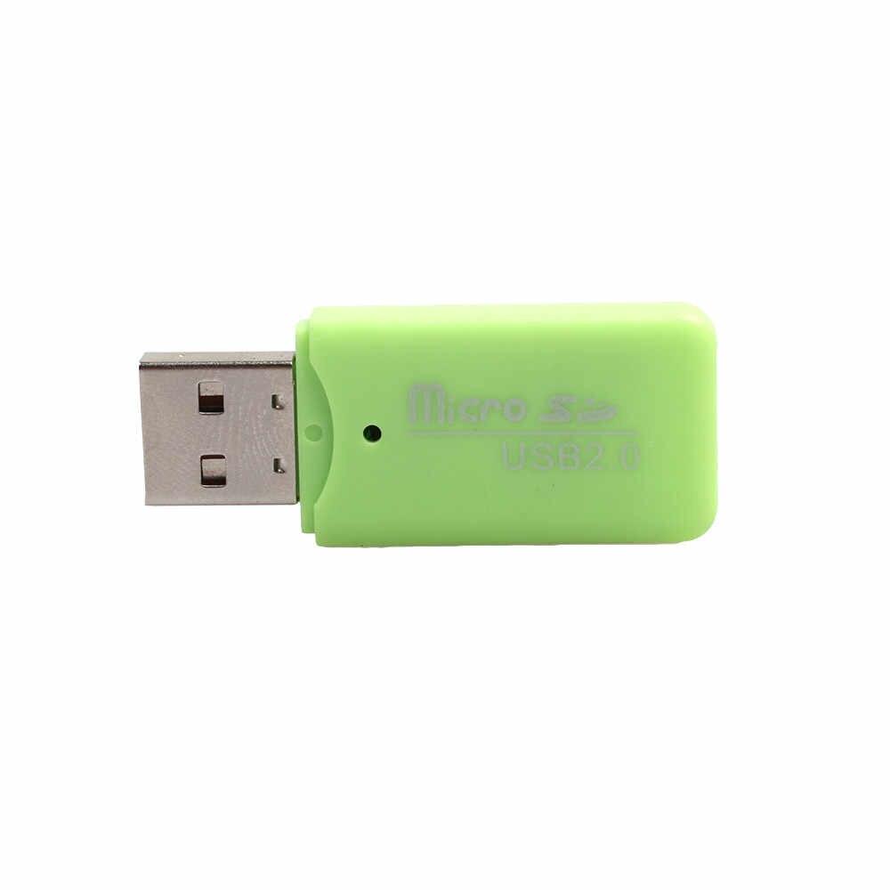 قارئ واحد-ميناء عالية السرعة البسيطة USB 2.0 مايكرو SD TF T-فلاش ذاكرة محوّل قارئ البطاقات USB ميناء الكمبيوتر قارئ بطاقات USB