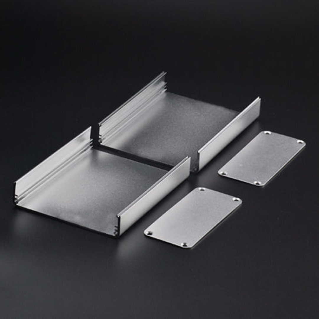1pc Silver Split Body Electronic Project Case 110x88x38mm Extruded Aluminum Enclosure Box