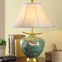 E27 LED Lights Resin Desk Table Lamp 110V 240V Handmade Multicolored Resin For Bed Room Study