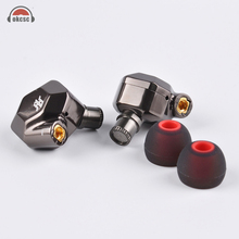 цена на OKCSC K5 Metal 8 Hybrid Drivers In-Ear Earphone 2BA+2DD HIFI Monitor Units with MMCX Cable Detachable Detach Replacement Wires