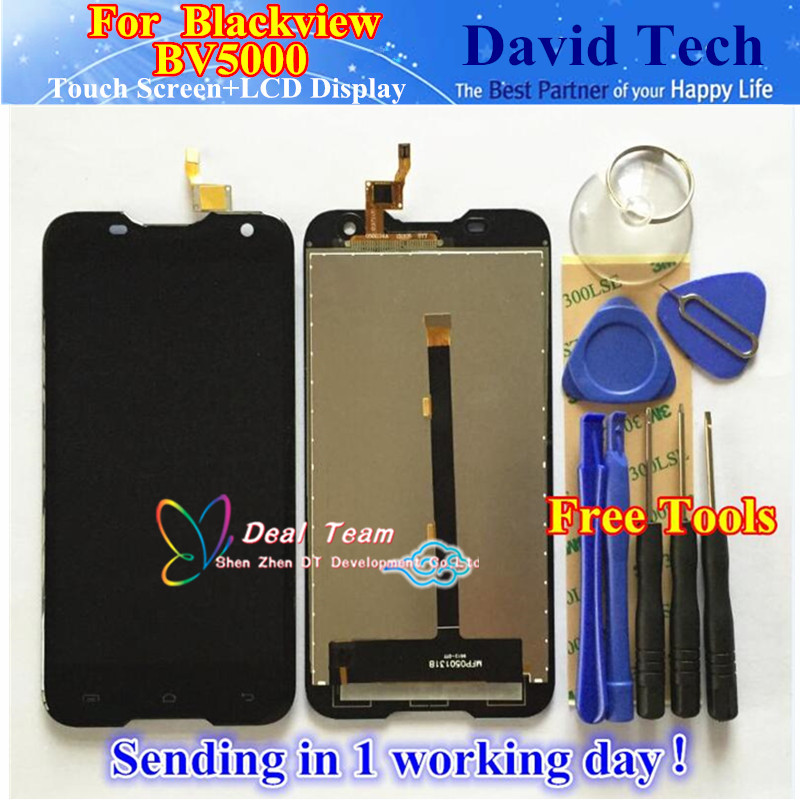 Prix pour Haute qualité écran lcd + tactile digitizer écran assemblée verre remplacement pour blackview bv5000 livraison gratuite