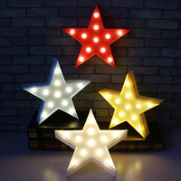 Five Pointed Star Shaped Fairy Nightlight ABS Plastic Table Desk Lamp Bedroom Atmosphere Wedding Decoration Gift
