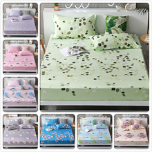 Polyester Fitted Sheet Bed Sheet Mattress Cover Printed Sanding Fabric With Elastic Band Dust Proof Adult Kids Child Single Size