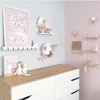 Scandinavian Nursery Peg Shelf Rabbit Shelves Set Cloud Bunny Bow Nursery Decoration With Knobs Kid Room Photography Accessories