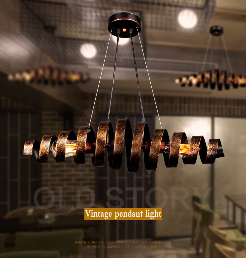 Loft Retro Vintage Pendant Lights Industrial Wrought Iron Lamps Bar Cafe Restaurant Suspension Luminaire Home Lighting In From