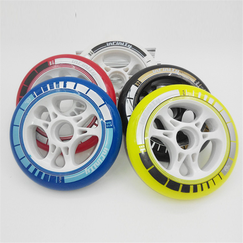 Prix pour PS patin de vitesse en ligne roues pour 85A Élastique PU 110mm 100mm 90mm Racing Wheel