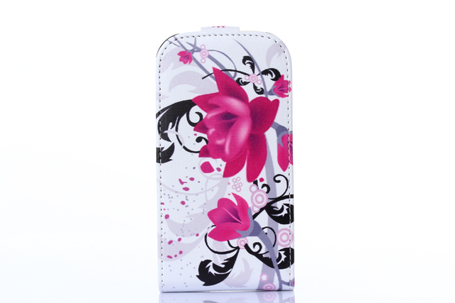 Leather Cover Case for Samsung Galaxy Trend Lite S7390 S7392 GT-S7392 GT-S7390