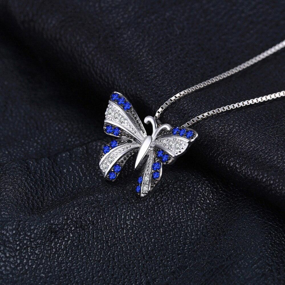 NakitPalace Butterfly 0.4ct Stvoren Blue Spinel Privjesak 100% - Fine nakit - Foto 4