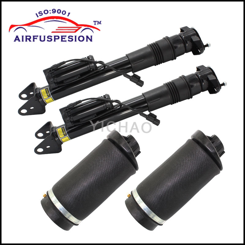 For Mercedes benz GL Class ML Class W164 Rear Air Suspension 2pcs Shock Absorber with ADS and 2pcs air spring bag 1643203031 brand new rear air ride suspension natural rubber air spring bag for mercedes benz w164 gl class a1643200625 a1643200925