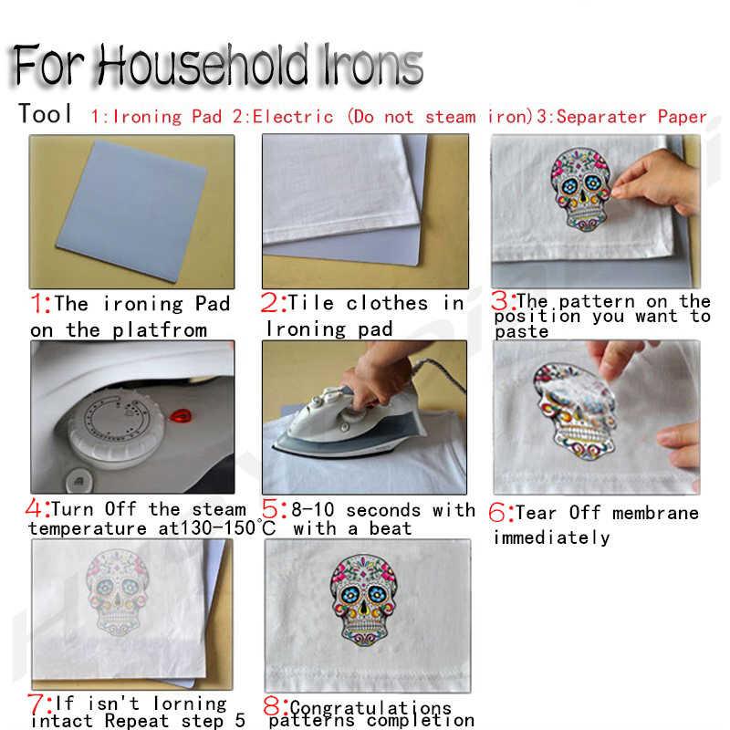 VOGUE fashion sensibile al calore patch di ferro sul trasferimento per abbigliamento strisce termo adesivi sui vestiti adesivi di trasferimento di calore