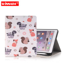 For ipad 2018 case with stylus slot PU leather protective 9.7 inch Smart cover kids for air 1 2 2017 9.7 inch case цена
