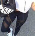 Bazaleas 2016 primavera outono chegam novas leggings sensuais elemento patchwork mulheres verão lápis calças skinny