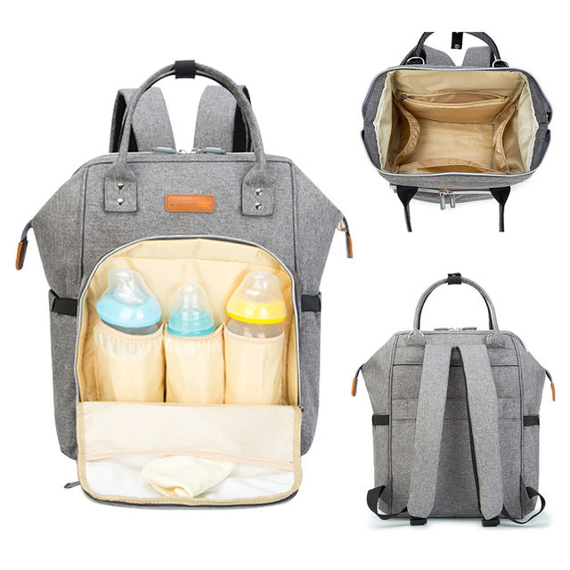 Diaper Bag for Baby Care Travel Backpack – peach