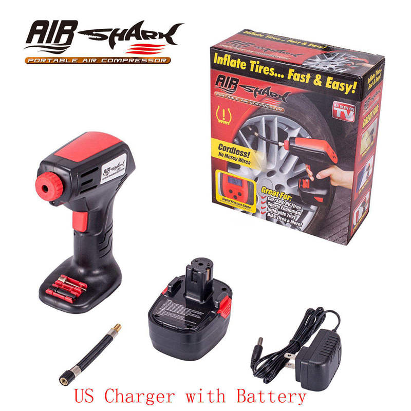 Universal Car Air Compressor Inflator Pump Hand Held EU Cigarette Electric Charger Digital LCD Bicycles Motorcycles Auto Styling-in Inflatable Pump from Automobiles & Motorcycles