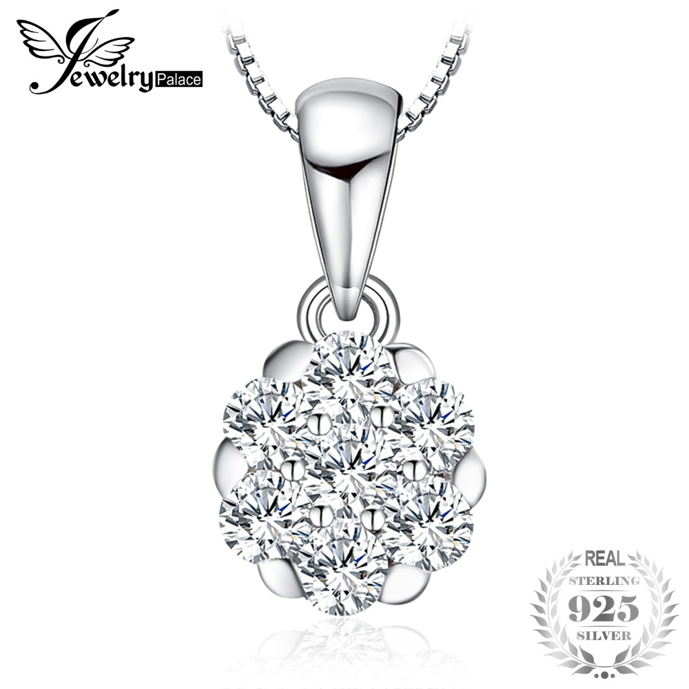 Jewelrypalace Marcos 0.4ct cúbicos zirconia colgante genuino 925 ...