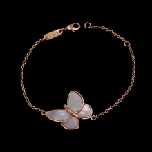 Hot Sale White Shell Butterfly Rose Gold Color Bracelets