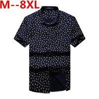 Large big size New Fashion Short Sleeve Silk Hawaiian Shirt Men Summer Casual Floral Shirts Men Plus Size 10XL 8XL 6XL 5XL 4XL