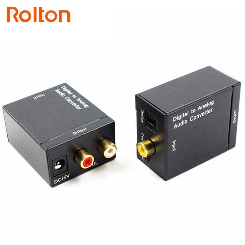 Offen Spdif Digital Zu Analog Audio Converter Dac Verstärker Decoder Fiber Coaxial Coax Audio Rca Signal Zu Analog L/r Audio Adapter Hindernis Entfernen Tragbares Audio & Video