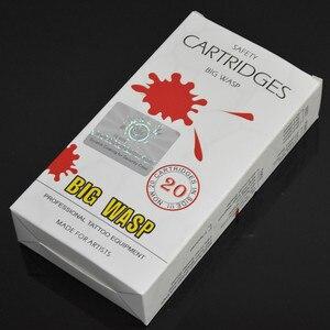 Image 5 - Oringinal BIG WASP Round Liner Cartridge Tattoo Needle White Tubes RL Needle PMU Supply