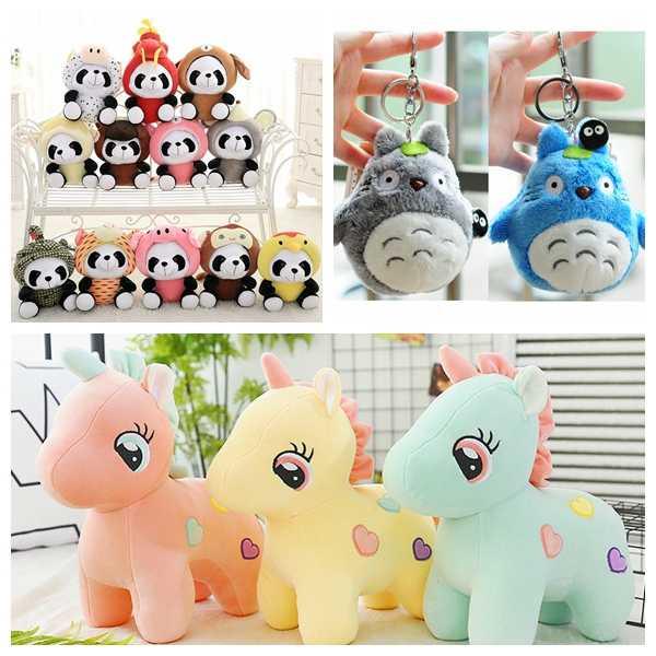 25cm unicórnio pelúcia panda totoro animais kawaii bonecas macias para crianças unicórnio pelúcia crianças brinquedo apaziguar dormir chaveiro