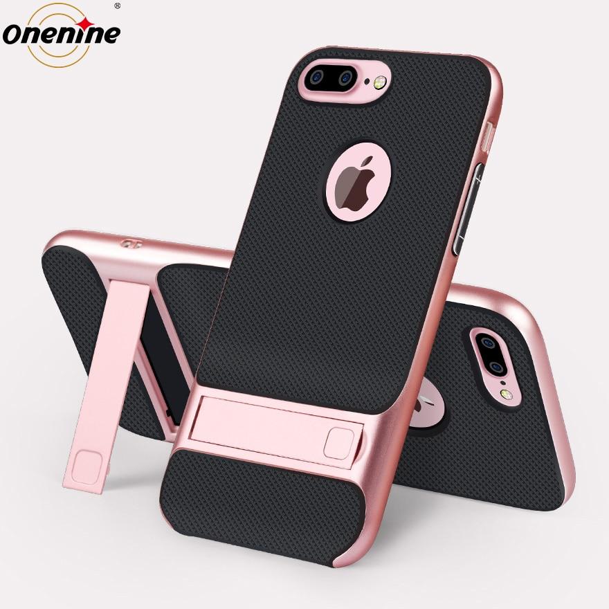 """Väska med Kickstand för iPhone 7 Plus Silikonfodral 3D-telefonskydd 360 skyddsfodral för iPhone7Plus Hybrid Cover 5.5 """""""