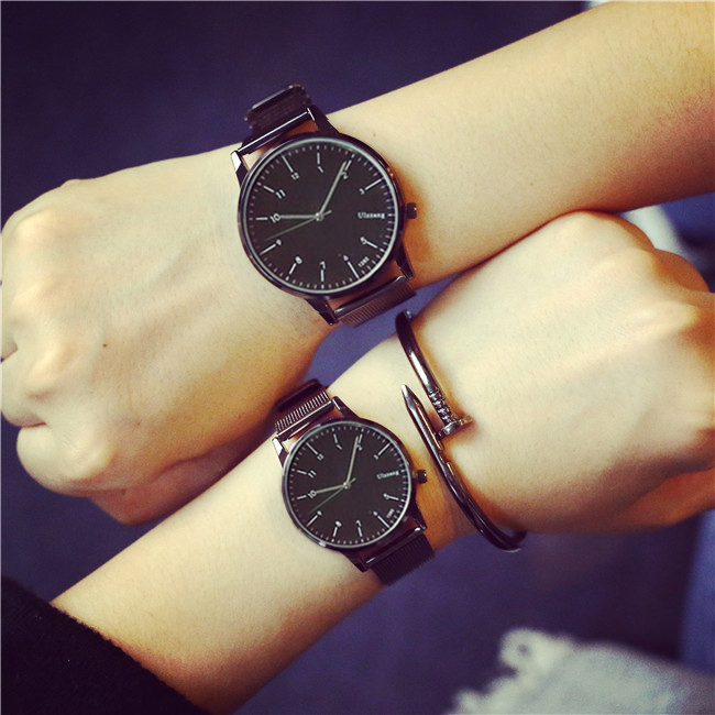 Ulzzang Brand Fashion Couple Watches Popular Casual Quartz Women Men Watch Minimalism Lover's Gift Clock Boys Girls Wristwatch o t sea simple brand quartz watches women men fashion casual lovers quartz watch minimalism hand clock for couple reloj montres page 3 page href page 5