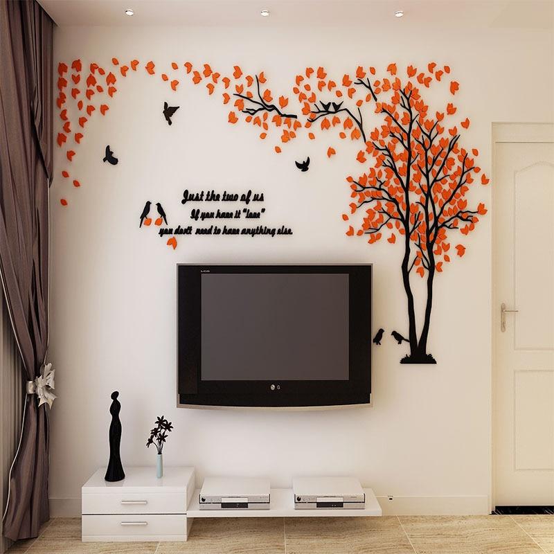 Didelio dydžio medis akrilo dekoratyvinis 3D sienos lipdukas DIY - Namų dekoras - Nuotrauka 5