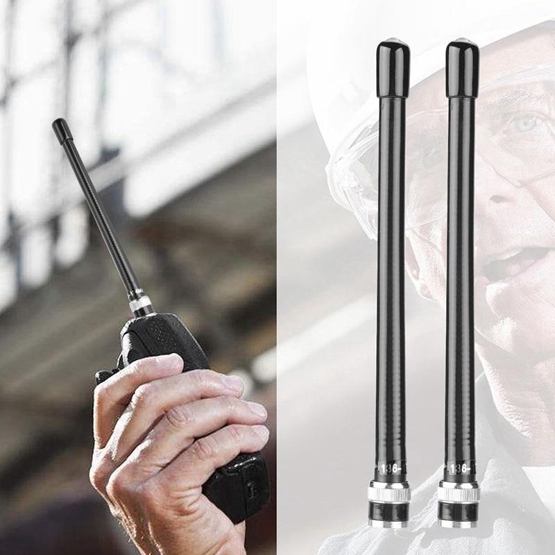 2Pcs/Set 10W Walkie Talkie Antenna BNC VHF136-174MHz Aerial For Icom Two-way Radio 16.3cm ABS Plastic Antennas Durable