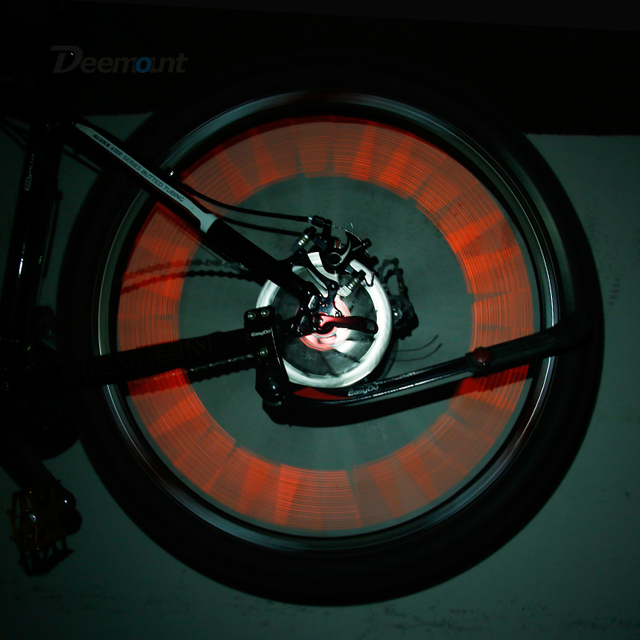 Deemount 60PCS Bicycle Light Reflective Bars for Spoke Use Light Sensitive Strips Visual Warning Figments Safe Bike Cycling