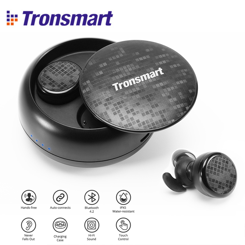 цена Tronsmart Encore Spunky Buds Bluetooth Headphones True Wireless Stereo Earbuds IPX5 Water Resistant with Mic for Phones онлайн в 2017 году