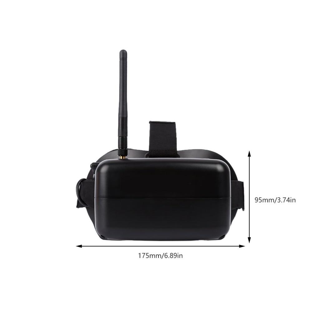 RC 007 3D 5,8G 40CH Zoll HD FPV gläser Bildschirm Empfänger + Batterteries - 3