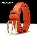 MAPASTA new leather belt first layer of leather leisure pin buckle leather belt women solid color fashion belt